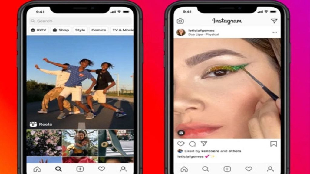 View of Latest Instagram Feature