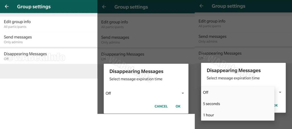 Disappearing and Self-Destructing messages