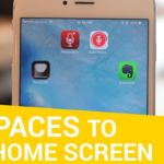 How to Create empty space on the home screen